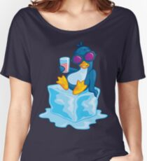 Penguin On Ice Women's Relaxed Fit T-Shirt
