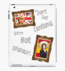 Don't Get Emotional, We're Not Spanish - Miranda Hart [Unofficial] iPad Case/Skin
