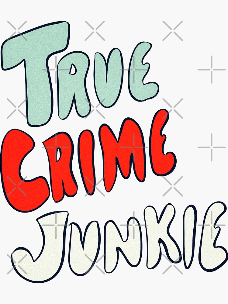 True Crime Junkie Handlettered Script Red White and Blue by FrenchToasty