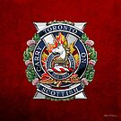 The Toronto Scottish Regiment - Cap Badge over Red Velvet by Serge Averbukh