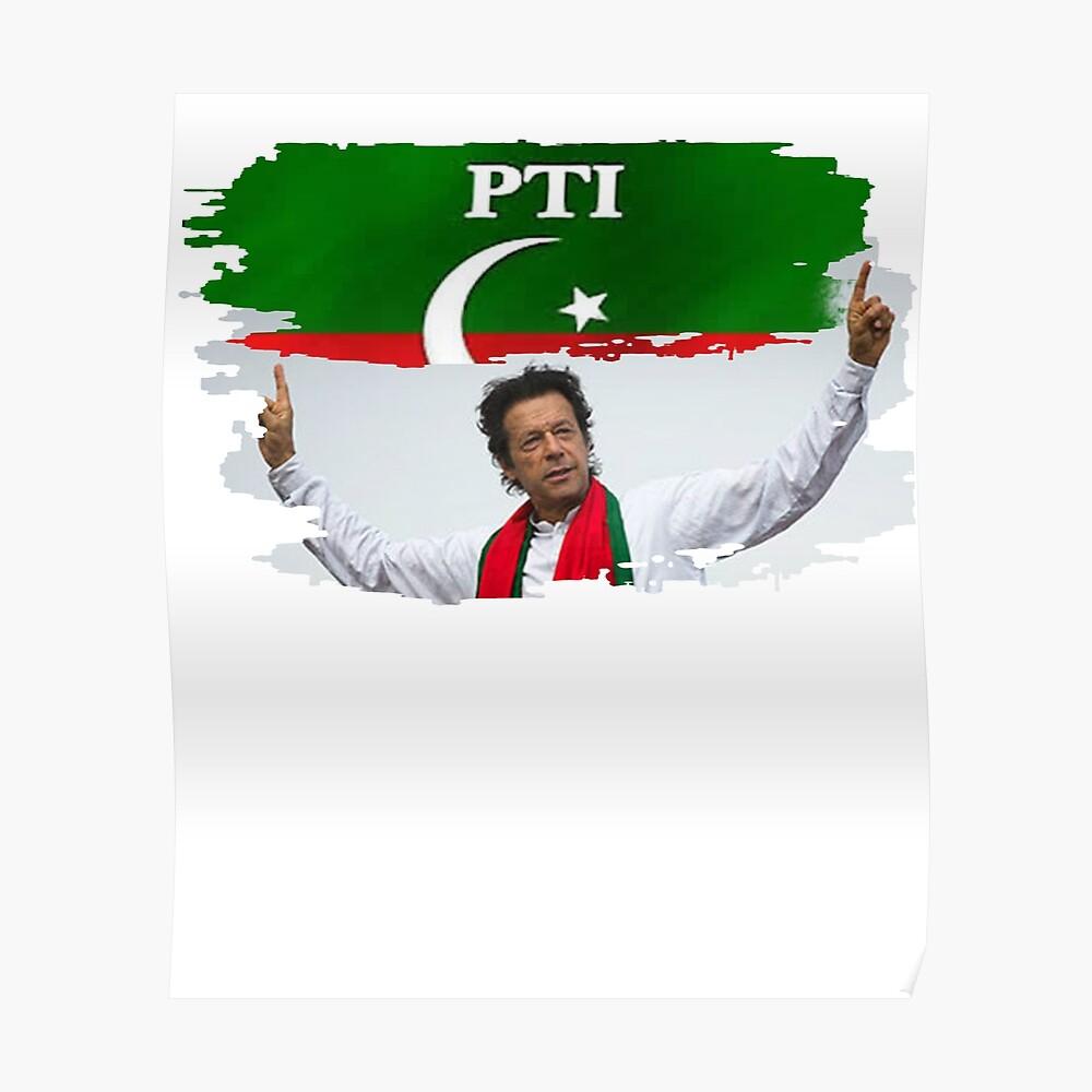 Imran Khan Pakistan Pti Sticker By Nabiljamal Redbubble [ 1000 x 1000 Pixel ]