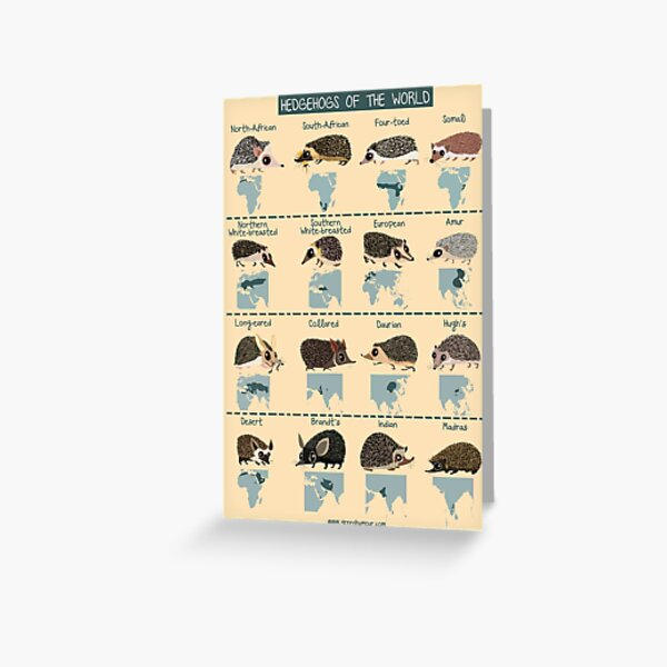 Hedgehogs of the World Greeting Card