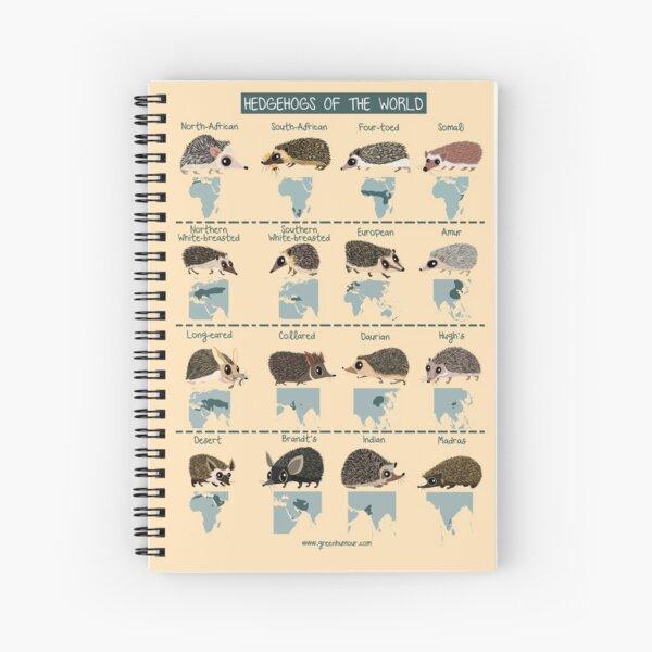 Hedgehogs of the World Spiral Notebook