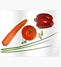 red vegetables Poster