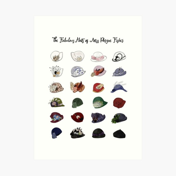 Miss Fisher's Fabulous Hats Art Print