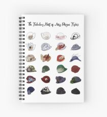 Miss Fisher's Fabulous Hats Spiral Notebook