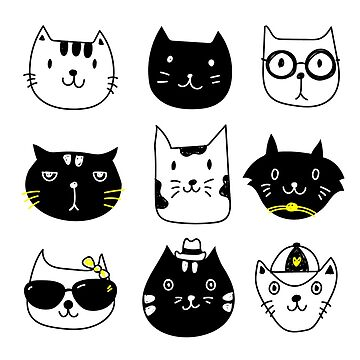 Kitty Cats Black & White P4 | Animals by mcaussieb