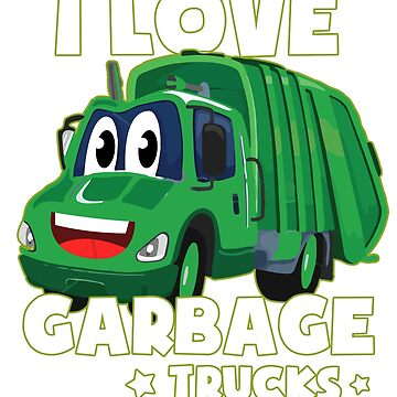 I Love Garbage Trucks Vintage Monster Work Truck T-Shirt by mrwater12vn