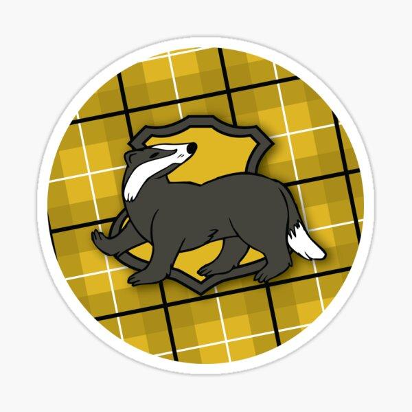 Badger House Plaid Sticker