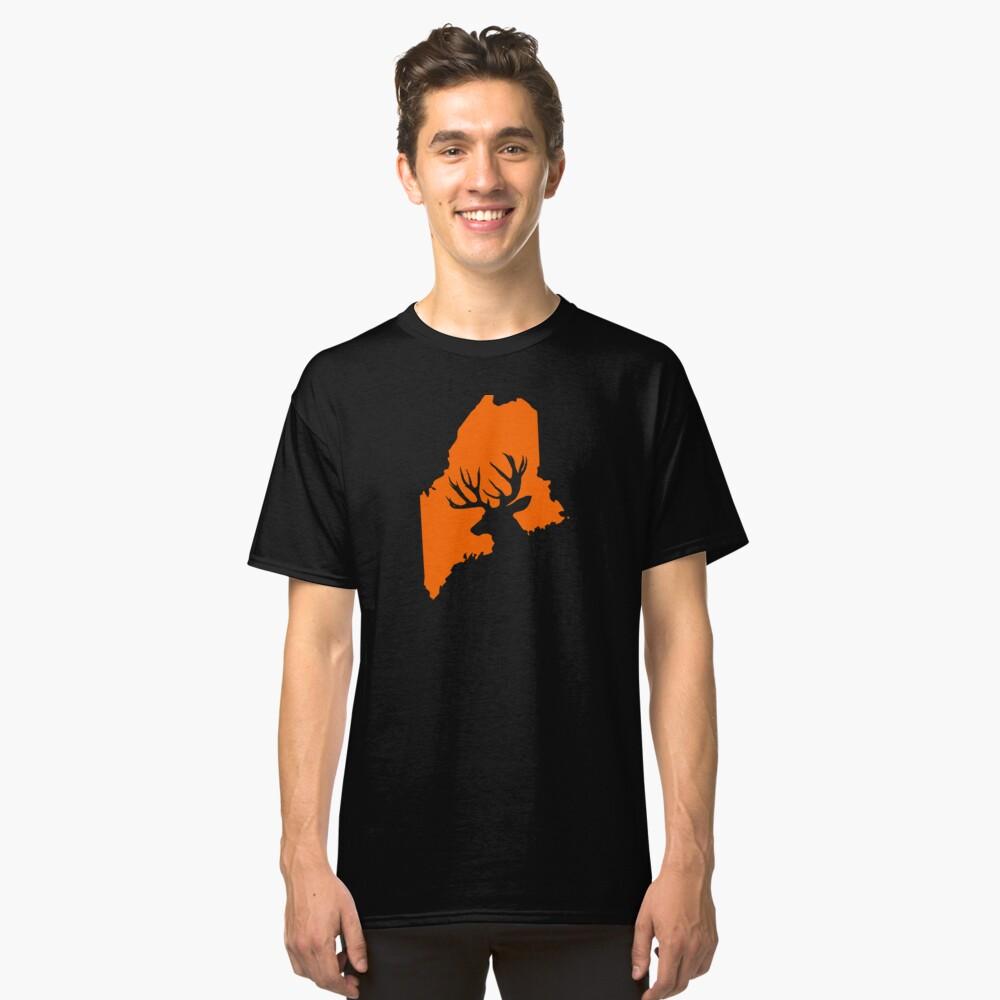 MAINE DEER Classic T-Shirt Front