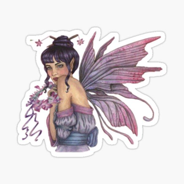Vintage Purple Fairy Sticker
