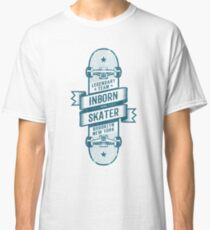 Skateboard wrapped with a ribbon with inscriptions Classic T-Shirt