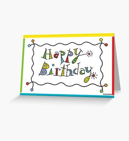 Sparkling Birthday - card Greeting Card