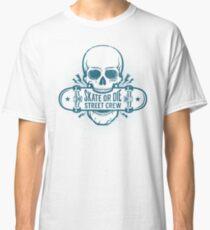 Skater emblem with skull  Classic T-Shirt