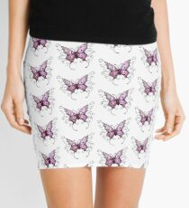 Purple Butterfly  Mini Skirt