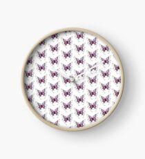 Purple Butterfly  Clock