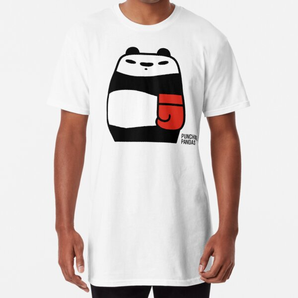 Punching Pandas Long T-Shirt