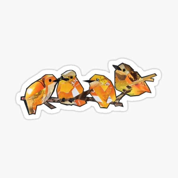 Orange quartet  Sticker