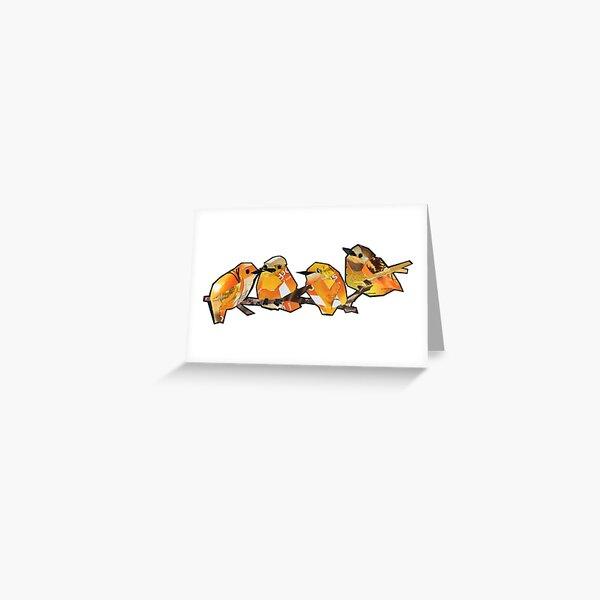 Orange quartet  Greeting Card