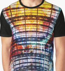 Illustration Arc Abstract Collage Graphic T-Shirt