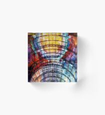 Illustration Arc Abstract Collage Acrylic Block