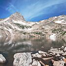 Blue Lake Panorama by Gary Lengyel