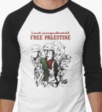 FREE PALESTINE Men's Baseball ¾ T-Shirt