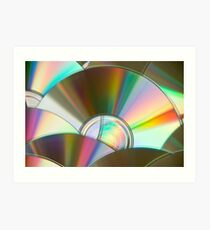 Rainbow CDs Art Print