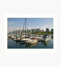 Coal Harbour, Vancouver, Canada Art Print