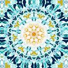 Mustard & Teal Mandala  by TigaTiga