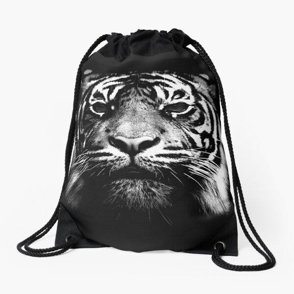 Illustrated Tiger  Drawstring Bag