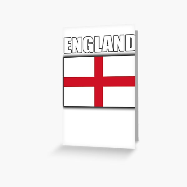 ENGLAND. English Flag, Soccer, Football, Flag of St George, Cross of St George, Englander, English, Pure & simple. Greeting Card