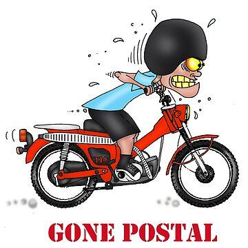 GONE POSTAL HONDA POSTIE BIKE MOTORCYCLE VERSION 2 by squigglemonkey