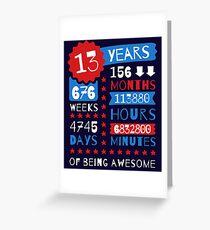13 Jahre Sein Awesome - Splendid 13. Geburtstag Geschenkideen Grußkarte