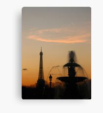 Eiffel Tower & Fountain at Sunset Canvas Print