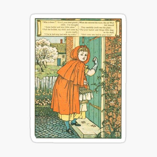 Little Red Riding Hood original illustration Sticker