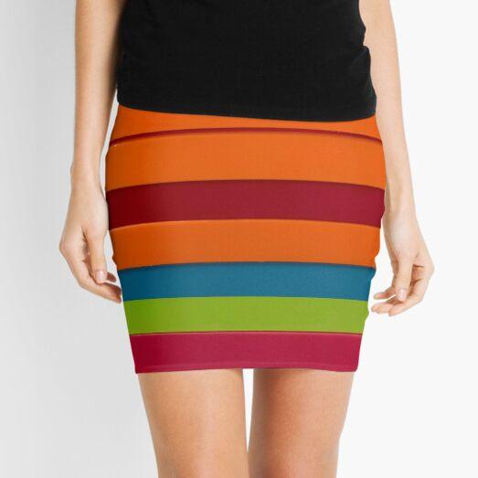 Colourful stripes Mini Skirt