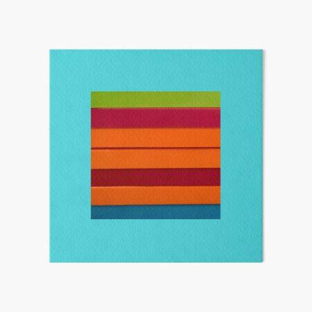 Colourful stripes Art Board Print