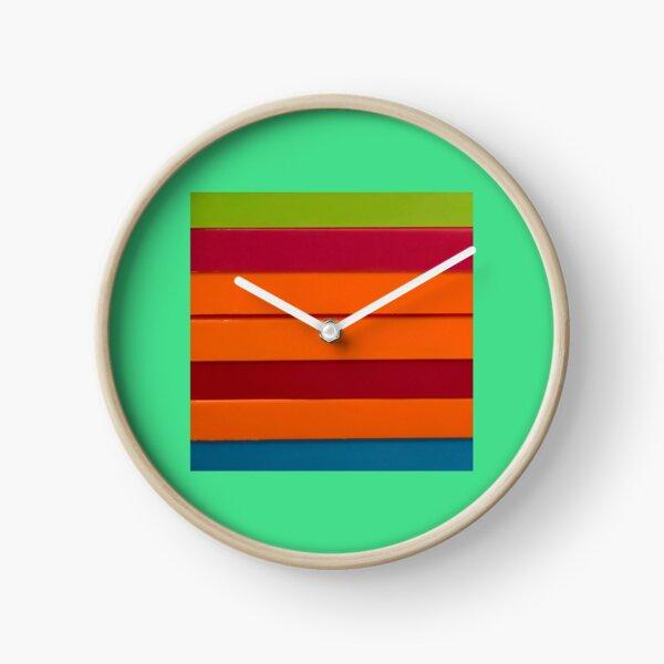 Colourful stripes Clock