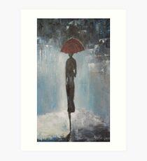 Alone in the night Art Print