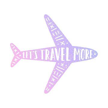 Let's travel more. Plane by kondratya