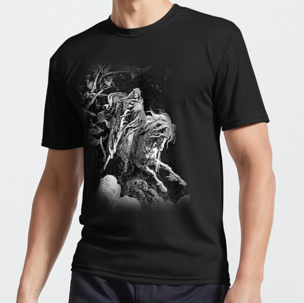 DEATH. Death on the Pale Horse. Revelation, Revenge, Gustave Dore. 1865. Revelations, Seven Seals. Active T-Shirt