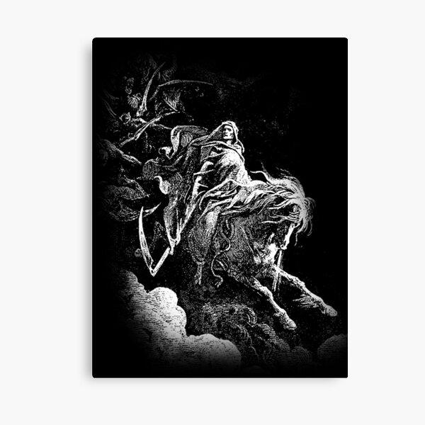DEATH. Death on the Pale Horse. Revelation, Revenge, Gustave Dore. 1865. Revelations, Seven Seals. Canvas Print
