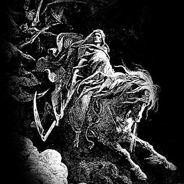 DEATH, Death on the Pale Horse, Revelation, Revenge, Gustave Doré, (1865), Revelations, Seven Seals by TOMSREDBUBBLE