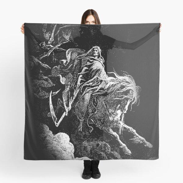 DEATH. Death on the Pale Horse. Revelation, Revenge, Gustave Dore. 1865. Revelations, Seven Seals. Scarf