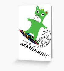 Critter Surf  ll - card Greeting Card