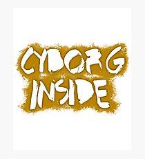 Lámina fotográfica Cyborg Inside (Oro)
