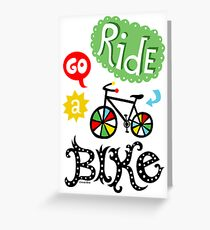 Ride a Bike ll - card  Greeting Card