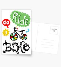 Ride a Bike ll - card  Postcards
