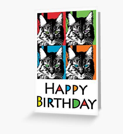 Shadow Cat Birthday  ll - card Greeting Card